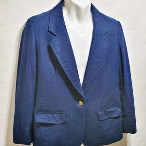 Pendleton Blue 100% Pure Virgin Wool USA Blazer